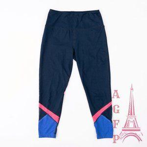 Reebok navy colorblock mesh workout leggings